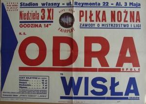 Wisła Kraków - Odra Opole 1:0 (1963/1964).