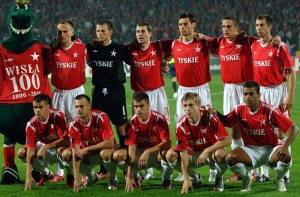 Wisła team in 2006. For the centennial anniversary of the club a very conservative design was prepared.