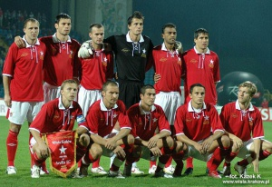 "Wisła team used the ""retro"" shirts for the game with Sevilla FC, which was the main point of the jubilee celebrations."