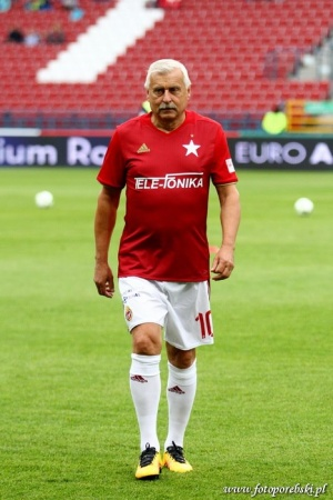 New model for 2016/17 season. The red shirt was presented by Kazimierz Kmiecik